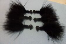 Steelhead-- Trout Black Marabou Jigs 1/8 oz. (X6)