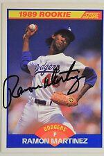 Ramon Martinez LA Dodgers Autographed 1989 Score #635 ROOKIE Signed Card 17C