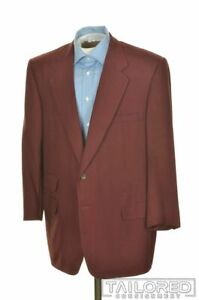 OXXFORD CLOTHES Red MONTE CARLO Silk Blazer Sport Coat Jacket - BESPOKE 46 R