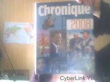 Chronique de l annee 2008