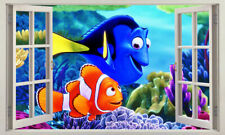 Finding Nemo 3D Window View Wall Stickers Vinyl Kids Decals Art Mural Home Decor