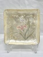 Vintage Mid Century Capiz Shell Trinket Scallop Dish Jewelry Mother of Pearl