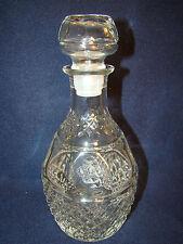 "Princess House clear glass wine decanter 10"" crown grape crystal diamond @23"