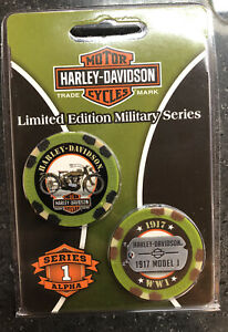 Harley-Davidson Limited Edition Poker Chips Military Series 1 DAR6741