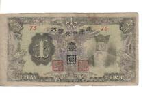 CHINA / MAN CHU KUO, 1 YUAN, T'ien Ming @ r, P#J135b, ND(1944)