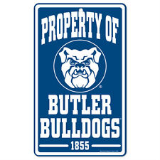 Butler Bulldogs Property of Sign 7.25 x 12