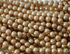 150 Gold 6mm Glass Pearl Round Beads
