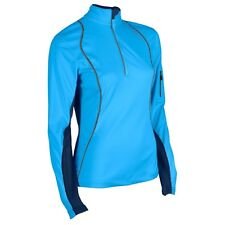 2 Womens New Sugoi Firewall 180 Zip Softshell Top Jacket Med Amethyst & Laguna