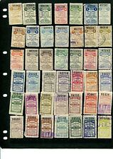 40+ Different 1908 and 1909 Santa Fe Revenue Talons (Lot #SF1)