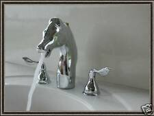 Horse head chrome tub faucet 2 handle wand AllBrass H-64C free shipping