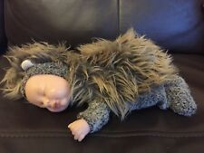 Anne Geddes 9 Inch Hedgehog Sleeping Baby Collectable Doll Beanie 2013