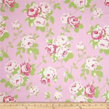 MASSIVE REMNANT Freespirit CHLOE ROSE VINE Cotton Fabric-PINK-Approx 114cmx1.3M