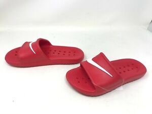 Boys Nike (BQ6831-600) Kawa Shower Red/white slides (433E)