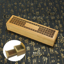 Ancien Bamboo Sandalwood Incense Stick Holder Storage Joss Box Burner Home Decor