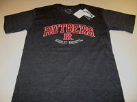 RUTGERS University SCARLET KNIGHTS Embroidered Darker Gray T-Shirt New NWT SMALL