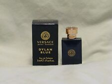 Versace 'Dylan Blue' For Men Pour Homme .17oz Bottle NIB - Amazing Scent!