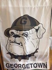 "Decorative flag Georgetown University Hoyas Bulldog~ 28""x 42""~New"