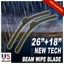 "ABLEWIPE 26""+18"" Quality All Season Beam Windshield Wiper Blades (Set of 2)"