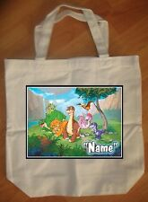 """Land Before Time"" Custom Personalized Birthday Tote Bag Party Favor"