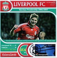 Liverpool 2006-07 Fulham (Steven Gerrard) Football Stamp Victory Card #616