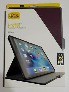 NEW OtterBox PROFILE SERIES Slim Case for iPad Air 2 - MIDNIGHT MERLOT PLUM GRAY