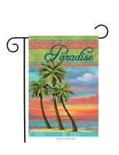 "Paradise Summer Garden Flag Tropical Island Palm Tree 12.5"" x 18"" Briarwood Lane"