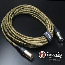 7 Pin XLR 20ft Female to Male Vacuum Tube Microphone 20' Cable Cord Brown Tweed