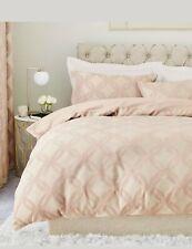 Next *new* Manhatten Jacquard Luxury Blush Pink King Duvet Set Bnwts