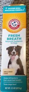 Arm & Hammer Dog Fresh Breath Toothpaste Vanilla Ginger Enzymatic Dental Care