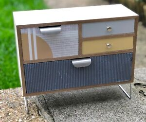 Modern Mid Century Style Wooden Mini Drawers Set - Two Sizes Tabletop Storage