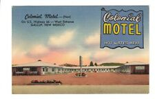 VTG Colonial Motel, Gallup, New Mexico Route 66, Linen Postcard, Unposted