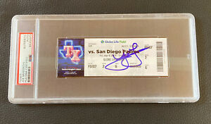 Joe Musgrove Signed No Hitter Ticket Stub 4/9/21 Rangers Padres Auto PSA DNA COA