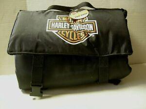 "Harley-Davidson Dog Travel Bed Roll W/Bar & Shield Logo, Black, 18"" x 27"", New"