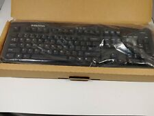 eMachines wired Computer Keyboard with attached purple PS/2 plug Model #KB-9908