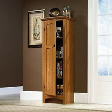 Oak Food Pantry Storage Cabinet Hutch Kitchen Dining Wood Shelf Game Room Home N