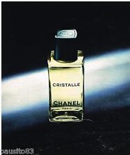PUBLICITE ADVERTISING 095  1976   CHRISTALLE  eau de toilette CHANEL