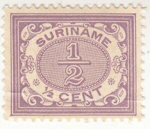 Suriname 1902. 1/2 cent Violet. NG