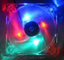 EverCool Quad Color (B,G,R,O) 4 LED 120mm Fan, 3pin