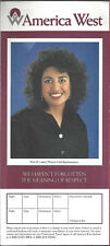 America West Airlines ticket jacket wallet Lopez rev 4/94 [6124]