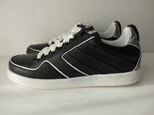 Baskets cuir noir et argent KENZO - T39