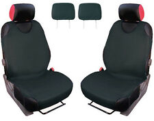 2x T-SHIRT CAR FRONT SEAT COVER PROTECTOR DARK GREY For VW GOLF MK7
