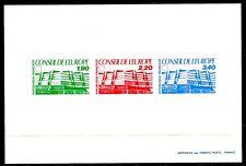FRANCE Service Epreuve Collective Conseil Europe 1986  Yvert 93-94-95 cote 180 e