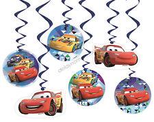 Disney Cars Hanging Decoration 6pk Party Supplies Racing Swirl