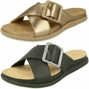 Ladies Cloud Steppers By Clarks Mule Sandals Step June Shell