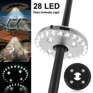 28 LED Garden Umbrella Lights Outdoor Patio Parasol Lamps 3 Brightness Mode UK
