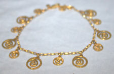 Gold Fashion Anklet Bracelet - Fits Up to 10""