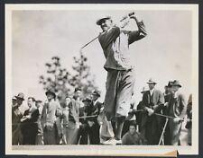 "1937 Horton Smith, ""Larger Than Life Golf Champion"" Horizontal Swing Photo"