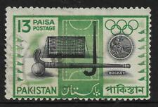 PAKISTAN 1962 SPORTS HOCKEY 1v USED