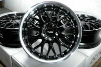 """17"""" Wheels Mercedes S350 S430 E320 E350 R320 R350 Audi A3 A4 Black Rims 5x112"""