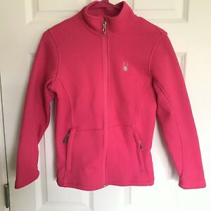 Spyder Core Sweater Jacket Pink Full Zip Girl's Size Lg